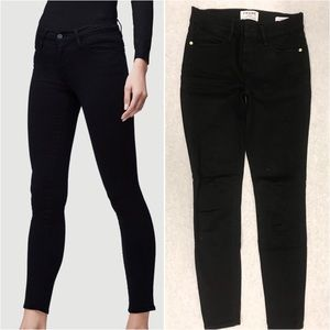 Frame Le High Skinny Film Noir Black Denim Jeans